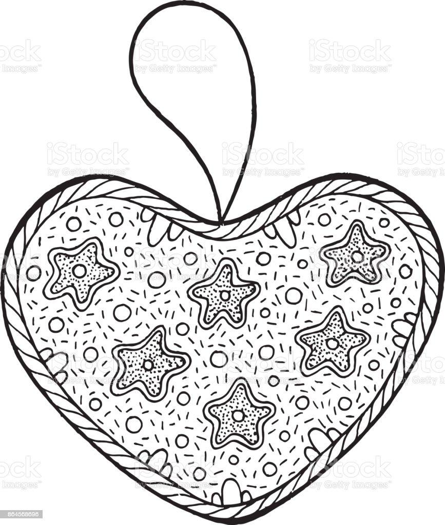 Noel Dekorasyon Noel Ağacı Kalp Için Yetişkinler Için Boyama Kitabı