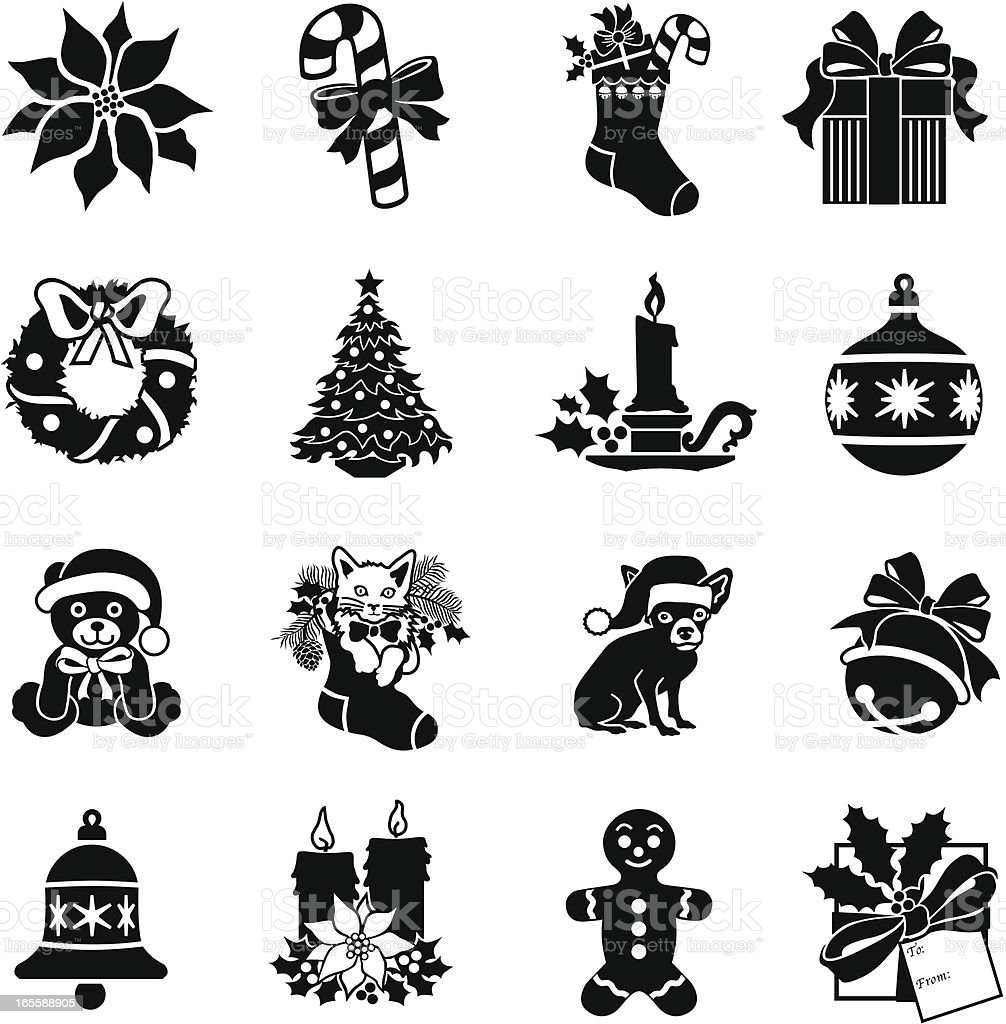 Christmas decoration icons royalty-free christmas decoration icons stock vector art & more images of bell