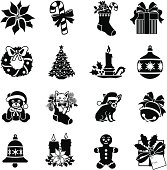 Christmas decoration icons