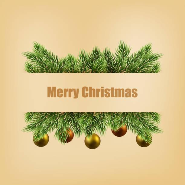 Weihnachtsdekoration auf alten Papier Hintergrund. Vektor. – Vektorgrafik