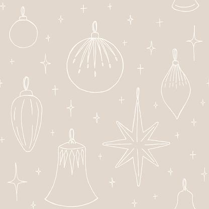 Christmas decoration seamless pattern vector illustration