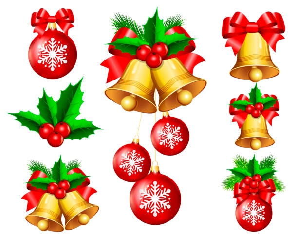 크리스마스 장식 - christmas decorations stock illustrations