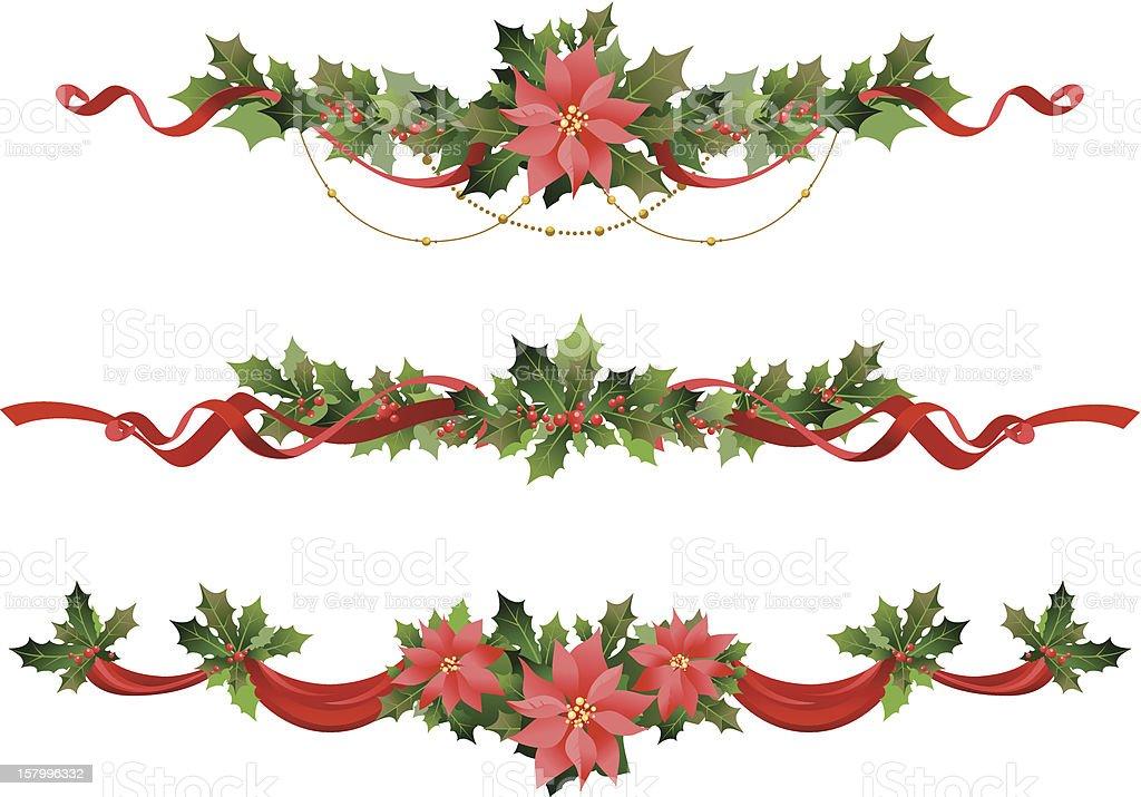 Christmas decoration vector art illustration