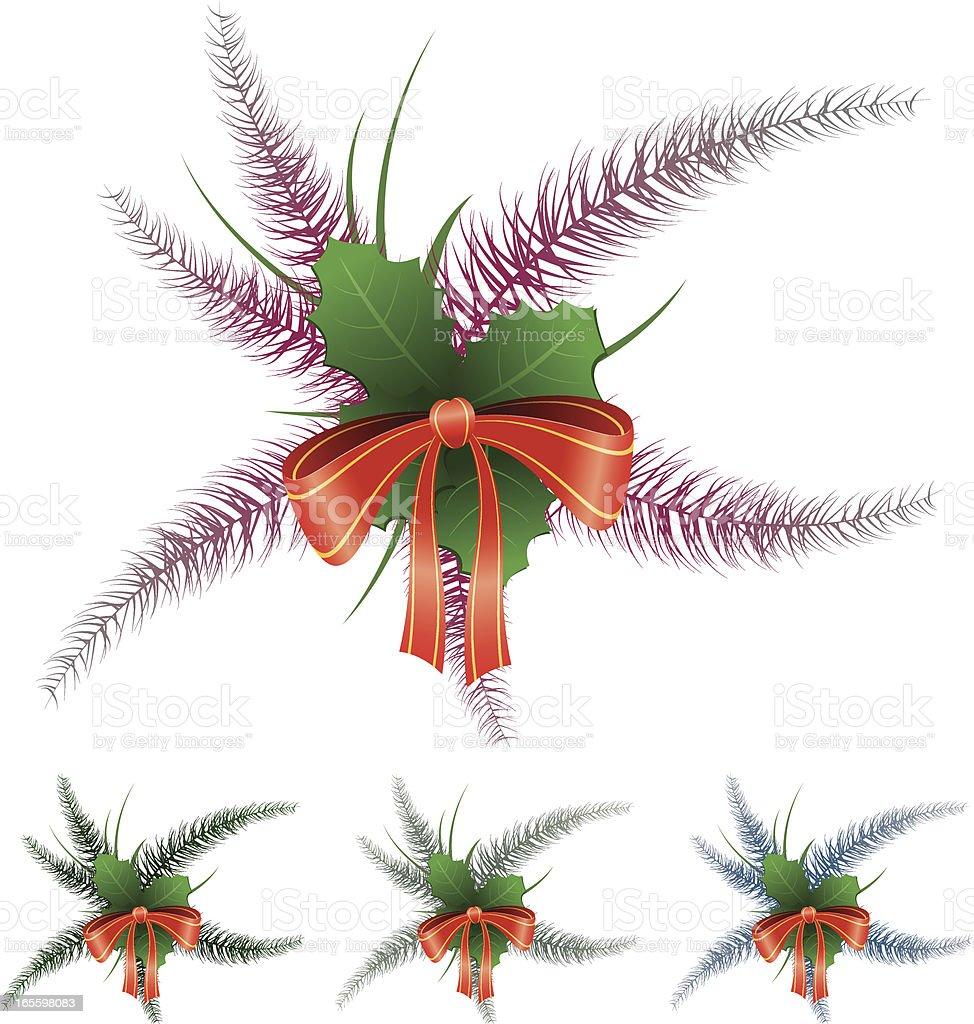 Decoración navideña ilustración de decoración navideña y más banco de imágenes de acebo libre de derechos