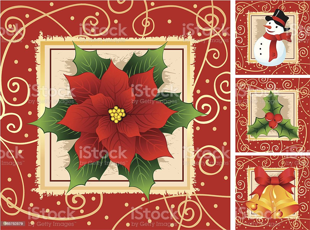 Christmas Decoration royalty-free christmas decoration stock vector art & more images of backgrounds