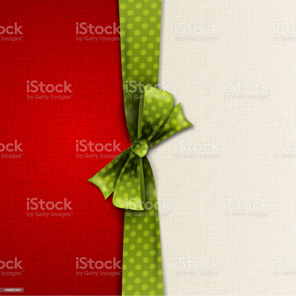 Christmas decoration with bow royalty-free stock vector art