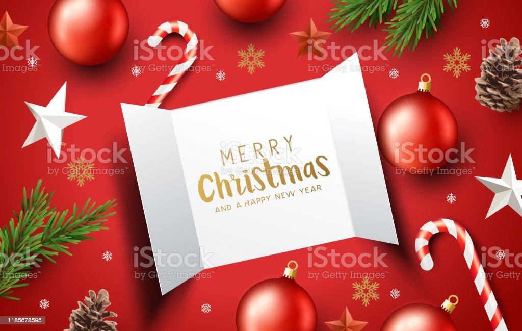 Décorations de Noel et portes de calendrier de l'Avent - clipart vectoriel de Abstrait libre de droits