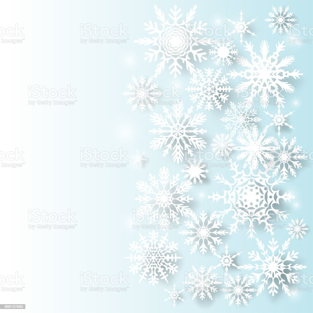 christmas decorations border snowflakes new year vector background celebration winter