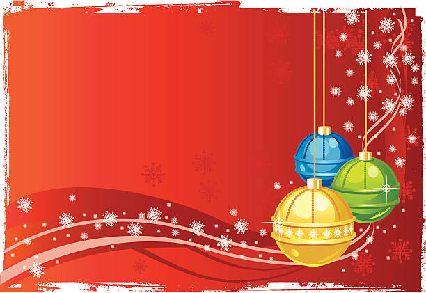 рождественские украшения - four seasons stock illustrations