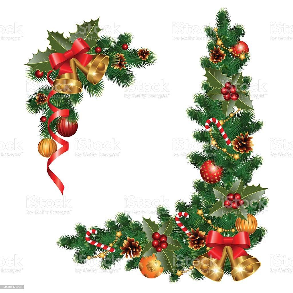 Boże Narodzenie Dekoracje Stockowe Grafiki Wektorowe I
