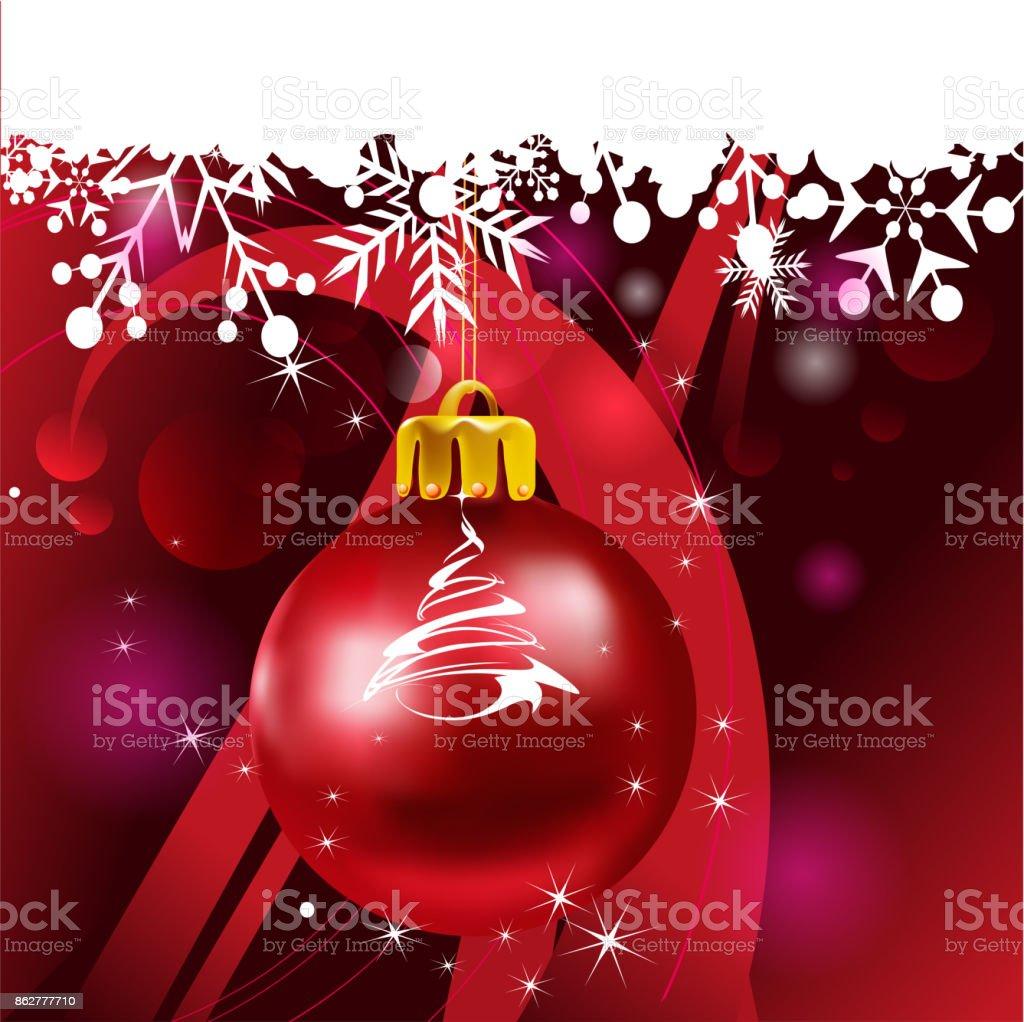 Christmas decorations vector art illustration