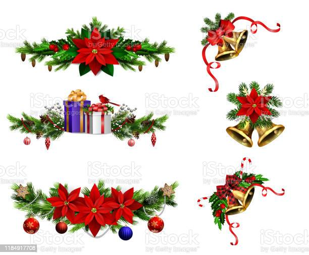 Christmas decorations with fir tree golden jingle bells vector id1184917708?b=1&k=6&m=1184917708&s=612x612&h=hzsivhqvvvhhqeg6dabedl1obalmwojjm nh0cxs1q4=