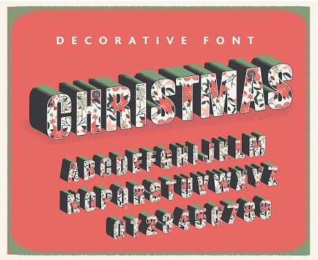 Christmas decorative font design collection