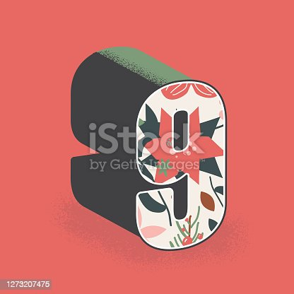 istock Christmas decorative number 9 design 1273207475