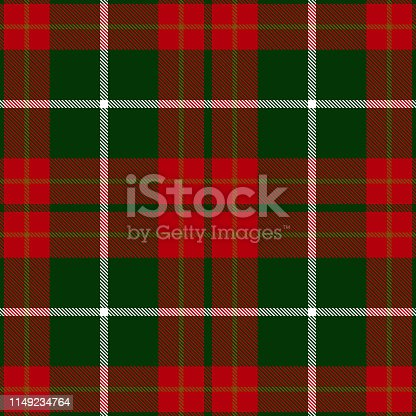 Christmas decorative Scottish tartan plaid seamless textile pattern background.