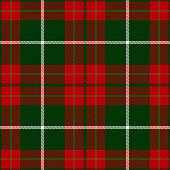 Christmas decorative Scottish tartan plaid seamless textile pattern background.
