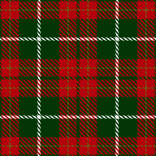 Christmas Decorative Tartan Plaid Textile Pattern Christmas decorative Scottish tartan plaid seamless textile pattern background. tartan pattern stock illustrations
