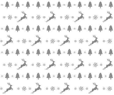 Christmas deer and snowflake pattern design