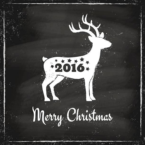 クリスマス鹿 - 野生動物のカレンダー点のイラスト素材/クリップアート素材/マンガ素材/アイコン素材