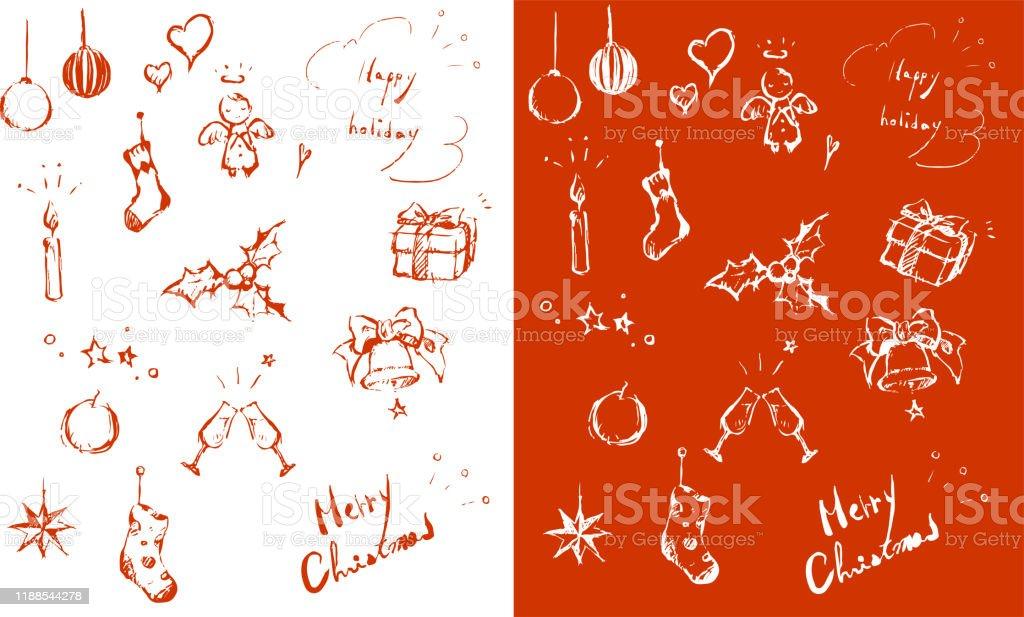 Weihnachts-Design-Element, rot - Lizenzfrei Baum Vektorgrafik
