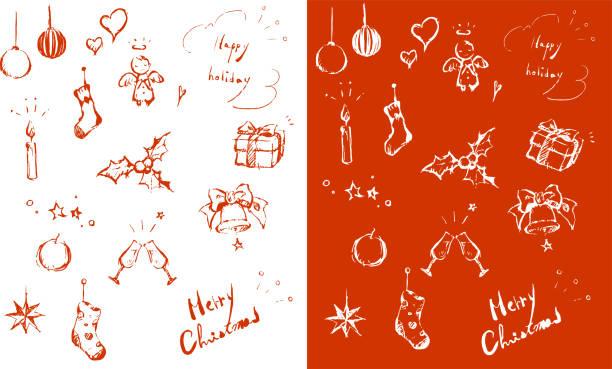 weihnachts-design-element, rot - nikolausstiefel stock-grafiken, -clipart, -cartoons und -symbole