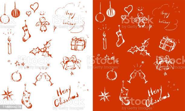 Weihnachtsdesignelement Rot Stock Vektor Art und mehr Bilder von Baum