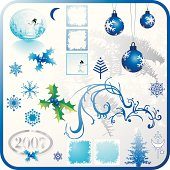 for your christmas needs : blue