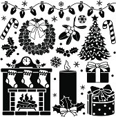 Vector Christmas design elements.