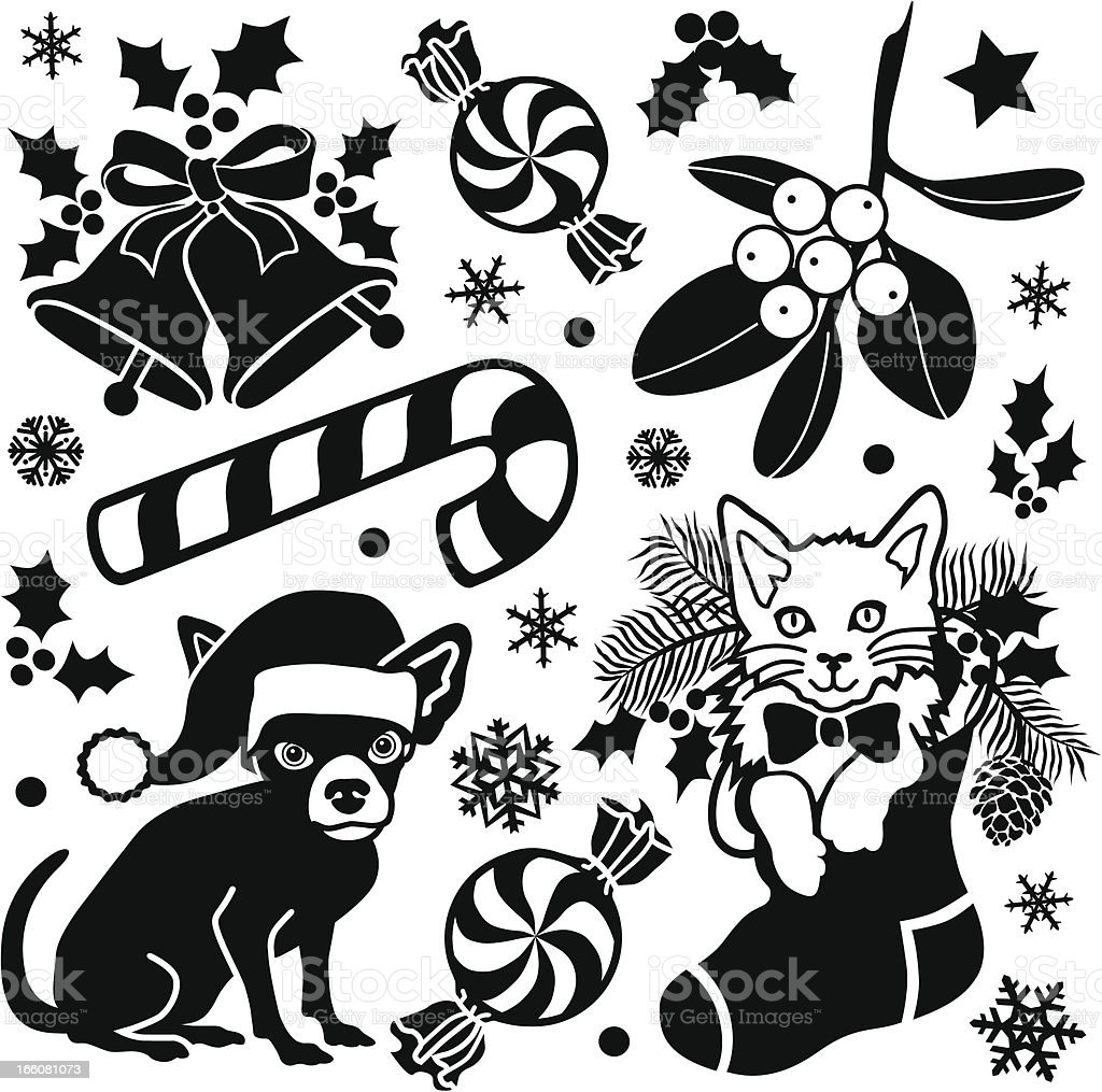 Christmas design elements royalty-free stock vector art