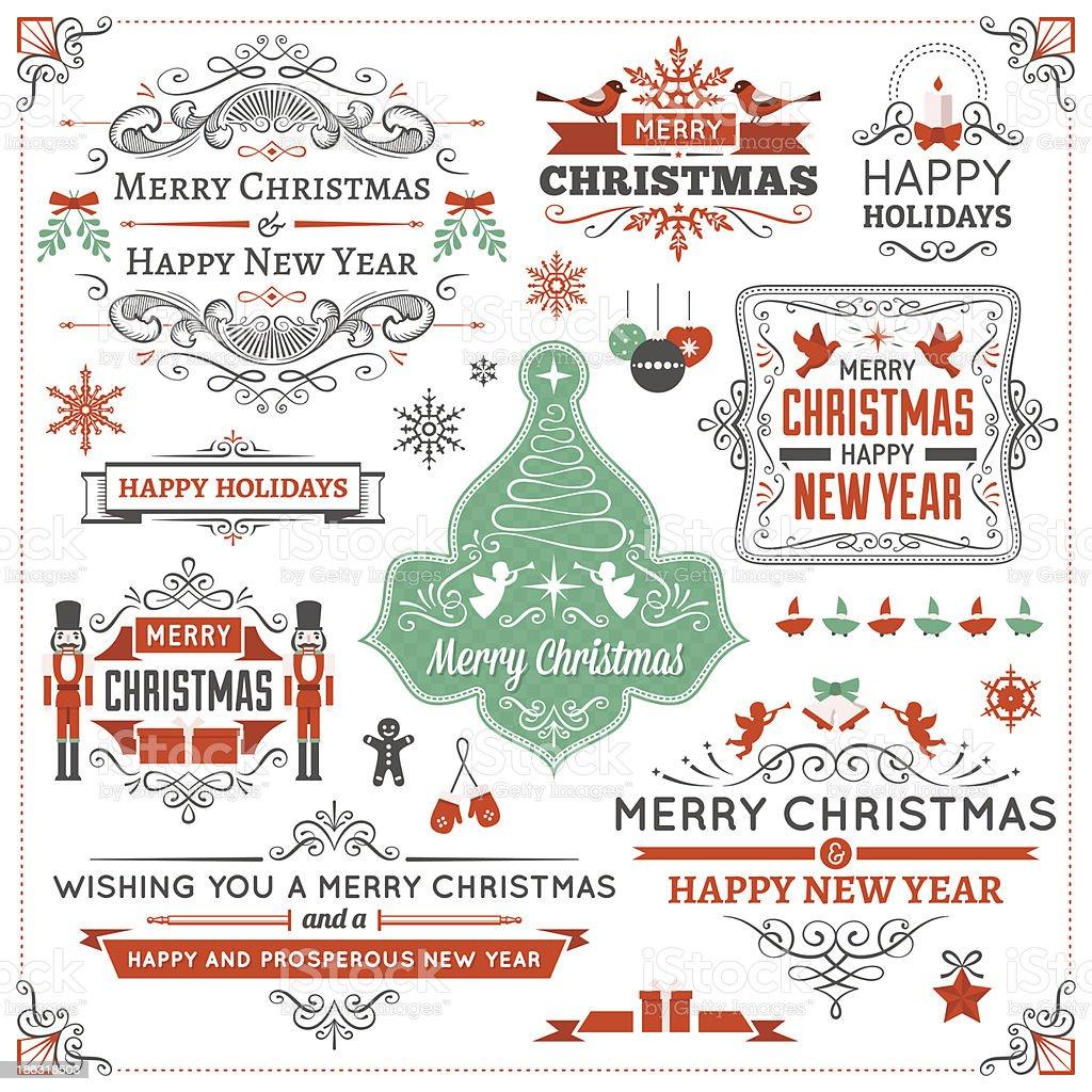 Christmas Design Elements vector art illustration