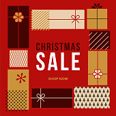 Christmas design for advertising, banners, leaflets and flyers. - Illustration