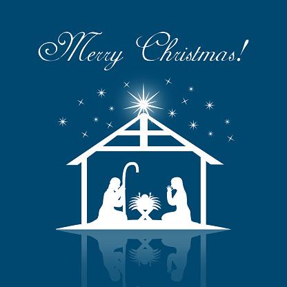 Nativity Scene Clip Art, Vector Images & Illustrations ...