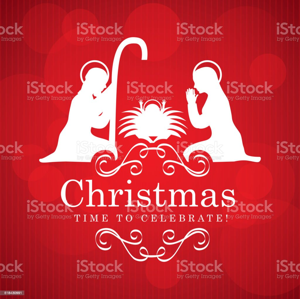 christmas design vector art illustration