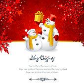 Christmas Design with Snowmen