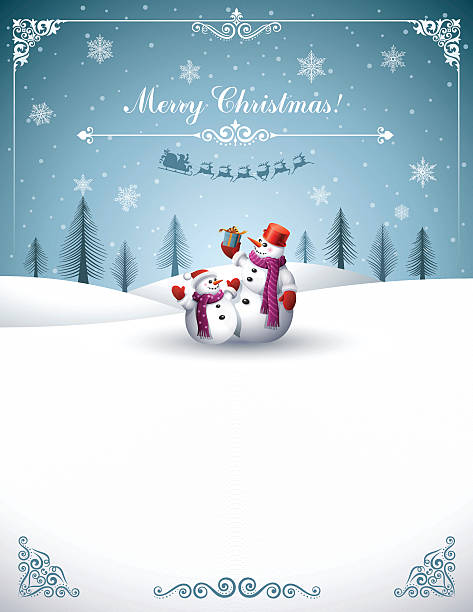 Christmas Design with Snowmen High Resolution JPG,CS6 AI and Illustrator EPS 10 included. Each element is named,grouped and layered separately. Very easy to edit. christmas fun stock illustrations