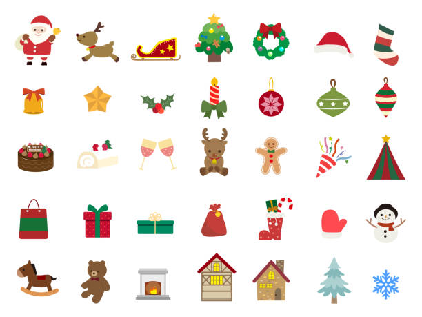 Christmas Design1 Christmas Design christmas icons stock illustrations