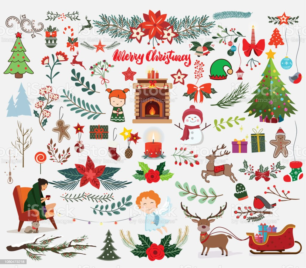 Christmas Designers.Christmas Designers Set Of Art Decoration Elements Stock