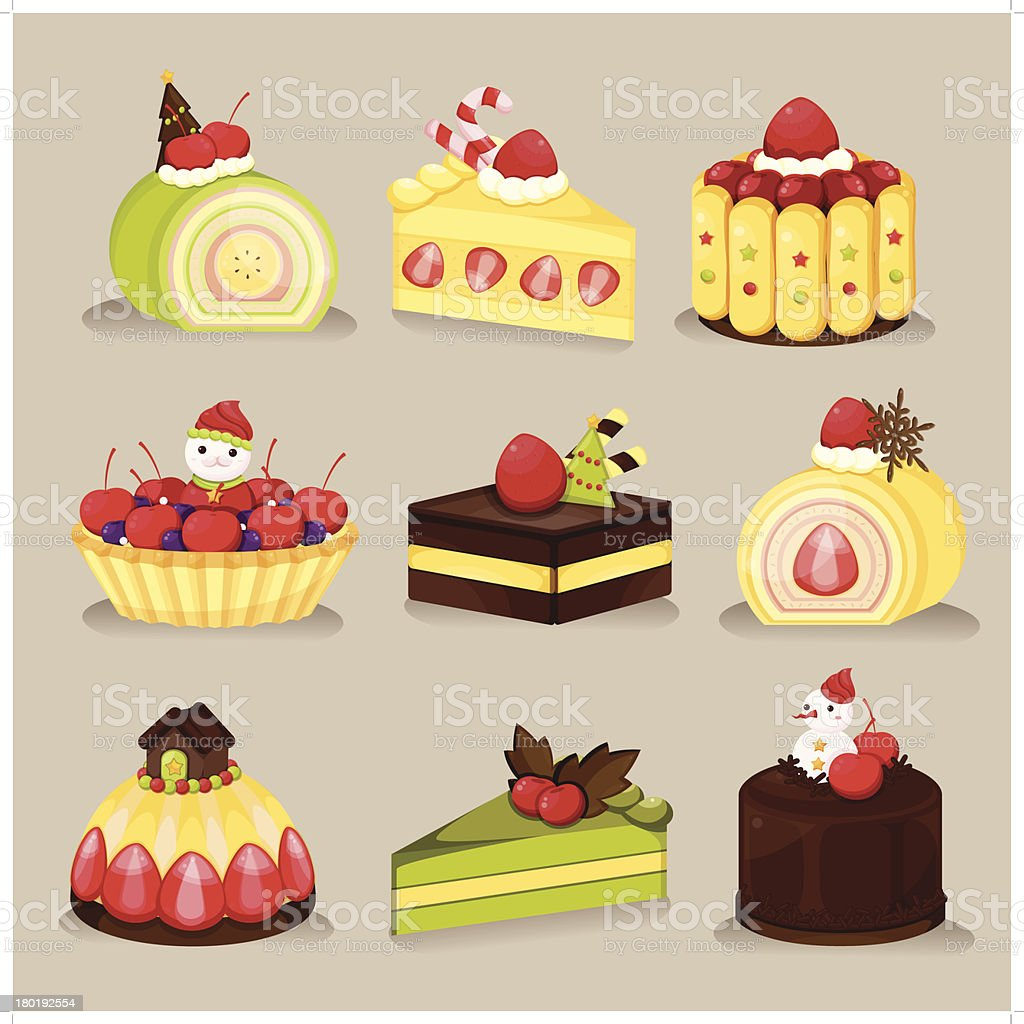 Christmas Dessert Is So Sweet!! royalty-free stock vector art