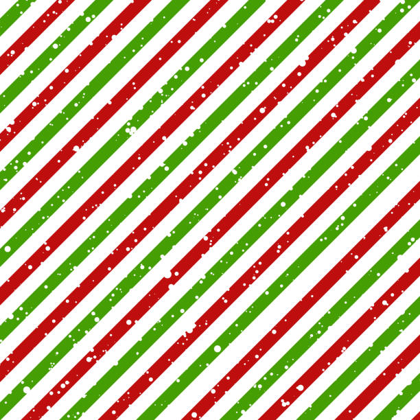 Christmas diagonal striped red and green lines on white background with snow texture, Vector Christmas diagonal striped red and green lines on white background with snow texture, Vector illustration candy patterns stock illustrations