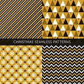 Christmas different seamless patterns - Illustration