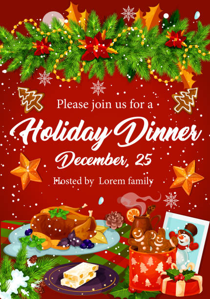 Top Christmas Dinner Clip Art, Vector Graphics and ...