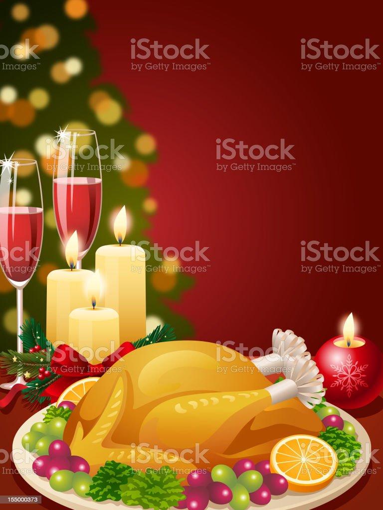 Christmas Dinner royalty-free stock vector art