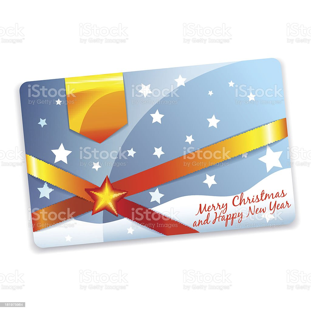 Christmas discount card template royalty-free stock vector art