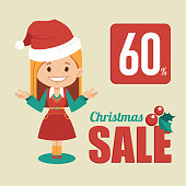 Christmas discount , sale holiday banner.