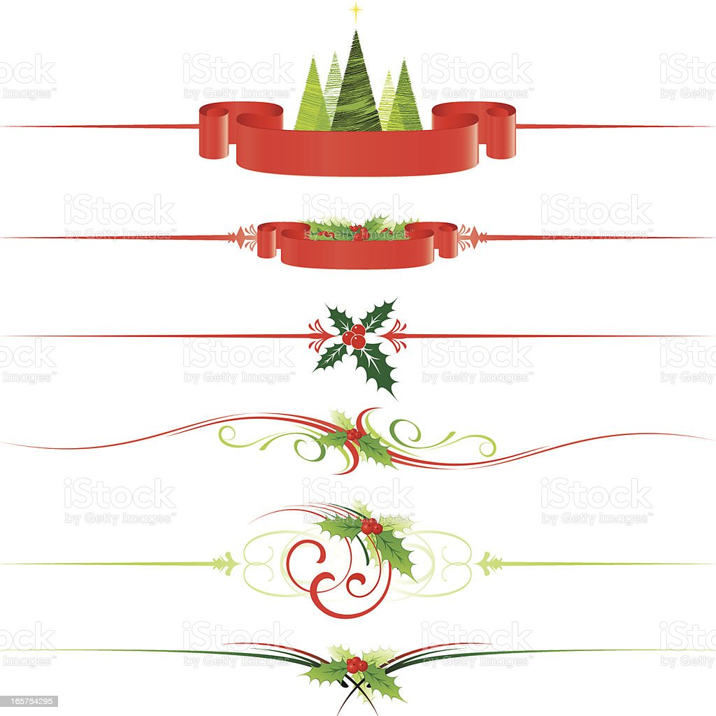 Christmas dividers royalty-free stock vector art