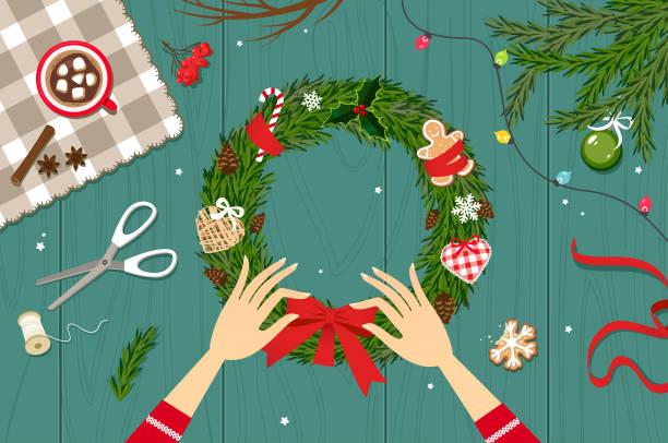 diy-weihnachten - hausgemacht stock-grafiken, -clipart, -cartoons und -symbole
