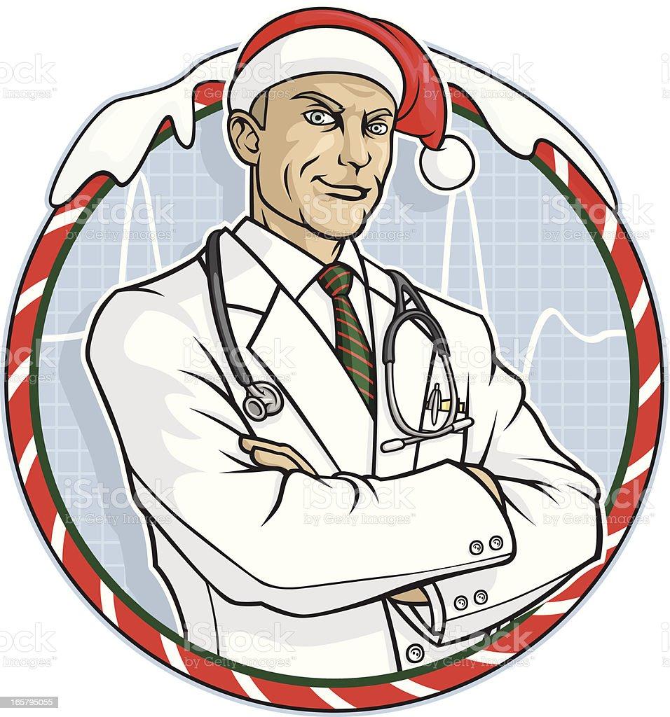 Weihnachtsarzt Stock Vektor Art und mehr Bilder von Arme verschränkt ...