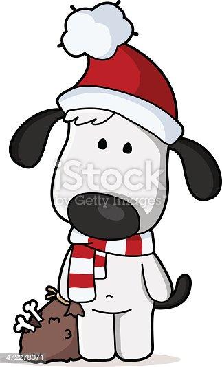 Christmas Dog Stock Vector Art & More Images of Animal ...
