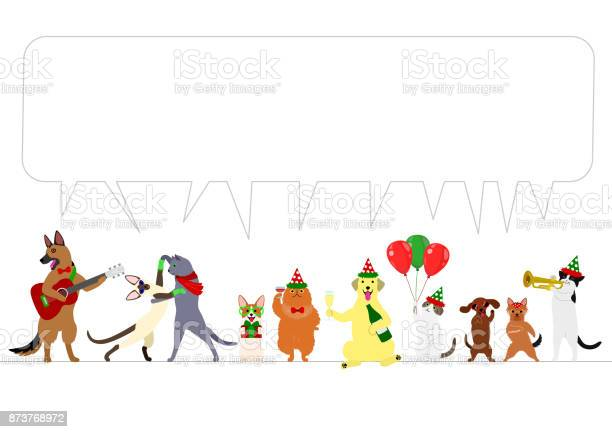 Christmas dogs and cats border with speech bubble vector id873768972?b=1&k=6&m=873768972&s=612x612&h=vm5bsouaffbuxpzonlg bpf8dnurecjpc6 4ip7jksg=