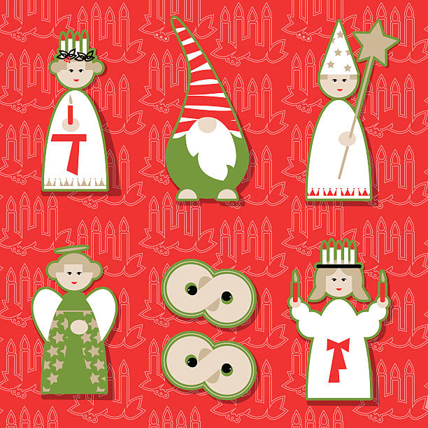 Navidad muñecas. Escandinavo tradición de Navidad. - ilustración de arte vectorial